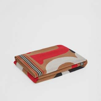 Burberry Archive Scarf Wool Cashmere Jacquard Baby Blanket