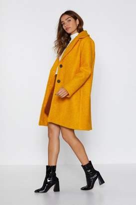 Nasty Gal Teddy Girl Longline Coat