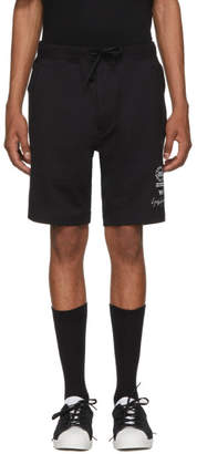 Y-3 Black Logo Graphic Shorts
