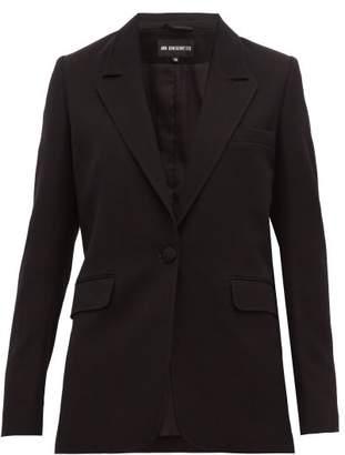 Ann Demeulemeester Single Breasted Wool Blend Boyfriend Blazer - Womens - Black