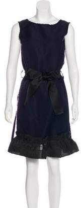 Lanvin Silk Belted Dress