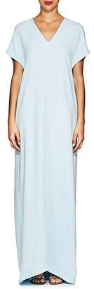 Lisa Perry Women's Silk Crepe Flyaway Gown - Lt. Blue
