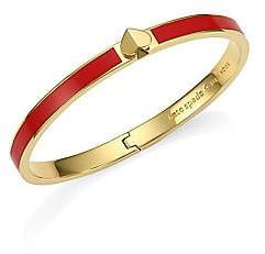 Kate Spade Thin Enamel & Goldtone Spade Hinge Bangle Bracelet