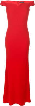 Alexander McQueen bardot evening dress