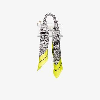 Balenciaga white nano City scarf bag