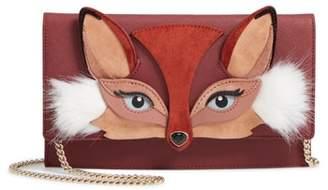 Kate Spade So Foxy Fox - Brennan Crossbody Bag With Faux Fur Trim