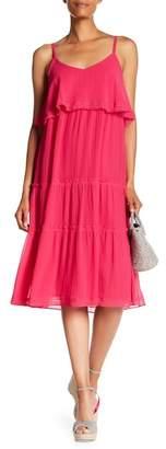 Trina Turk Narcissus Front Popover Knit Trim Dress