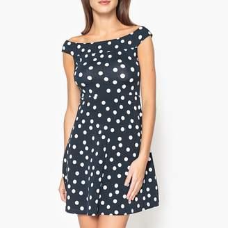 Liu Jo Polka Dot Cold Shoulder Dress
