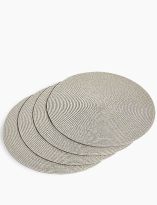 Marks and Spencer Set of 4 Round Woven Placemats
