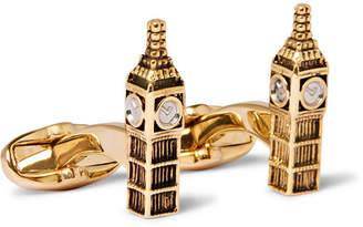 Paul Smith Big Ben Gold and Silver-Tone Cufflinks