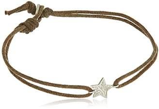 Me & Ro Me&Ro Sterling Paisley Star Cord Strand Bracelet