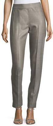 St. John Stretch Birdseye Skinny Ankle Pants