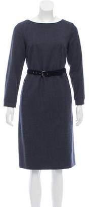 Max Mara Weekend Tweed Knee-Length Dress