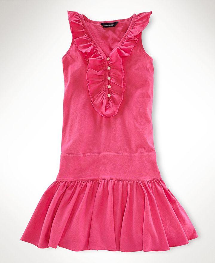 Ralph Lauren Girls Dress, Ruffled Karrine Dress