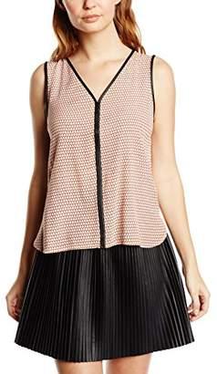 Vero Moda Women's Printed Sleeveless Vest - Black - 6