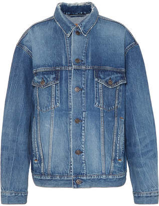 Balenciaga Like A Man Oversized Denim Jacket - Blue