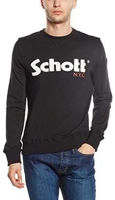 Schott NYC Men's SWJONAS1LOGO Sweatshirt,M