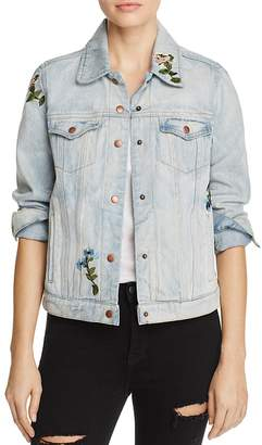 Olivaceous Embroidered Denim Jacket $118 thestylecure.com