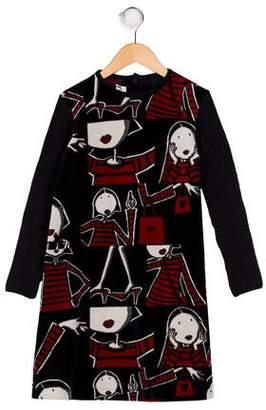Sonia Rykiel Girls' Printed Long Sleeve Dress