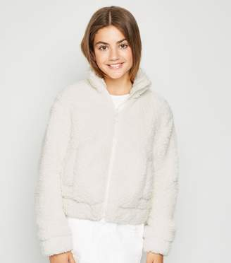 New Look Girls Ring Pull Teddy Jacket