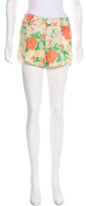 Alice + Olivia Pinted Mini Shorts