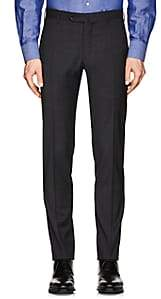 Incotex Men's S-Body Slim Wool Trousers - Charcoal