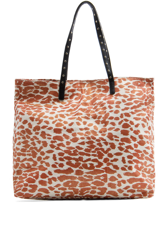 TOUCH - Leopard print shopper handbag