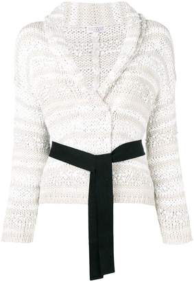 Brunello Cucinelli belted chunky knit cardigan