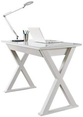M.O.D. Andes Steel and Glass Computer Desk