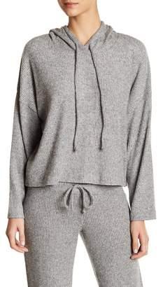 Free Press Rib Knit Hooded Pullover