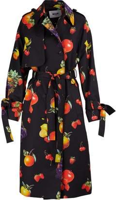 MSGM Fruit print trench coat