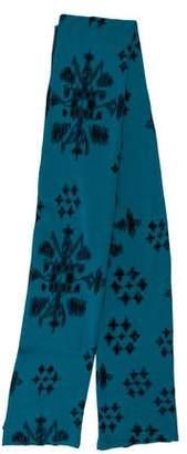 Baja East Knit Floral Pattern Shawl