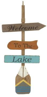 Millwood Pines Welcome to the Lake Wall Decor