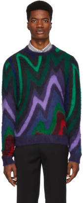 Paul Smith Multicolor Mohair Zig Zag Sweater
