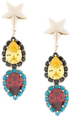 Iosselliani Elegua star earrings