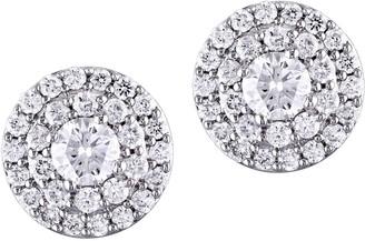 Affinity Diamond Jewelry Affinity 9/10 cttw Diamond Halo Stud Earrings,14K