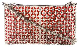 Alaia Laser Cut Python Crossbody Bag
