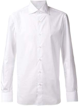Isaia cut-away collar shirt