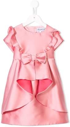 Simonetta ruffle draped dress
