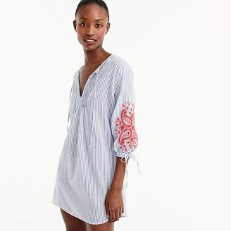 J.Crew Embroidered long-sleeve cover-up