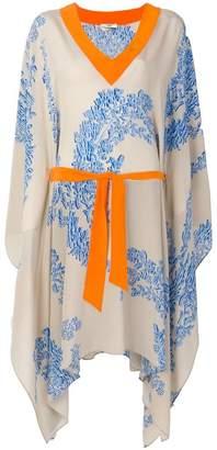 Fendi floral print asymmetrical dress