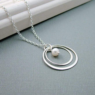 3a3d941fd Wished For Silver Double Eternity Circle Necklace