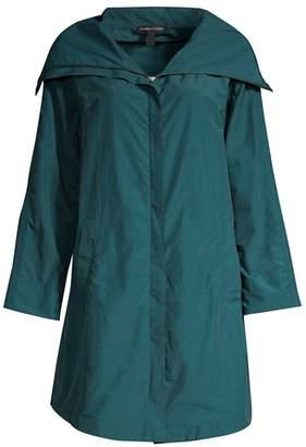 Eileen Fisher High Collar Mid-Length Coat