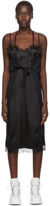 MM6 MAISON MARGIELA Black and Navy Strappy Slip Dress