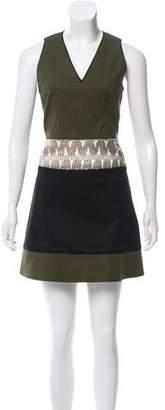 Proenza Schouler Snake Skin-Accented Mini Dress