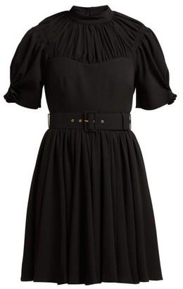 Emilia Wickstead Corinne Pleated Crepe Mini Dress - Womens - Black
