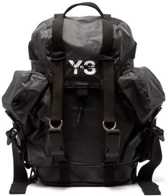 Y-3 Y 3 Xs Utility Logo Print Backpack - Mens - Black