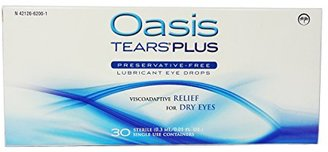 Oasis TEARS PLUS Lubricant Eye Drops Relief For Dry Eyes, 30 Count Box Sterile Disposable Containers (Pack of 2) $49.99 thestylecure.com