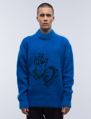 Rocket X Lunch R Angora Knit Sweater $155 thestylecure.com