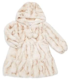 Widgeon Little Girl's& Girl's Faux Fur Coat